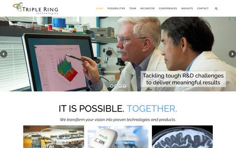 Screenshot of Home Page tripleringtech.com - Triple Ring Imaginative Research and Development - captured Dec. 17, 2016