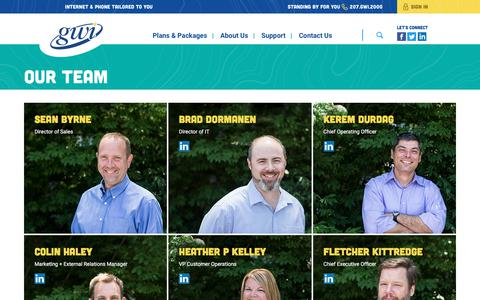Screenshot of Team Page gwi.net - Our Team – GWI - captured Oct. 6, 2017