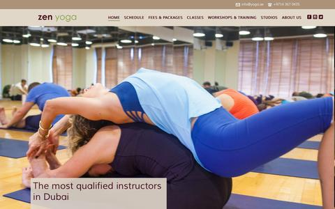 Screenshot of Home Page yoga.ae - Zen Yoga Dubai - captured Jan. 25, 2015
