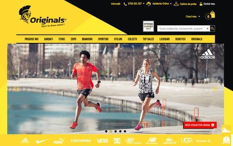 Screenshot of Home Page originals.ro - Originals - Start to dress smart - captured May 9, 2017