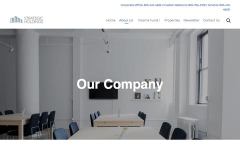 Screenshot of About Page strategicholdings.com - Our Company – Strategic Holdings - captured Sept. 21, 2018