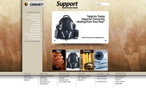 Screenshot of Support Page mcc.us - Support - captured Oct. 26, 2014