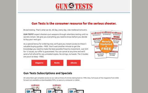 Screenshot of Products Page gun-tests.com - Gun Tests - captured Oct. 22, 2018
