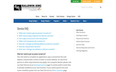 Screenshot of FAQ Page baldwinemc.com - Service FAQ | Baldwin EMC - captured Aug. 1, 2018