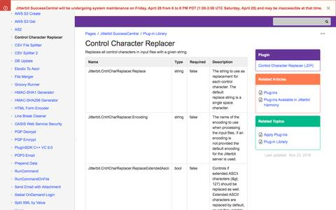 Control Character Replacer - Jitterbit SuccessCentral -