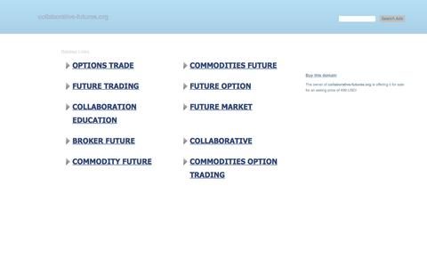 Screenshot of Home Page collaborative-futures.org - collaborative-futures.org - This website is for sale! - collaborative-futures Resources and Information. - captured Feb. 21, 2018