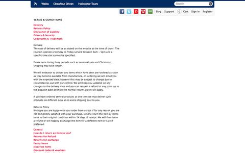 Screenshot of Terms Page greatnewyorktours.com - Terms & Conditions  | Great New York Tours - captured Sept. 30, 2014