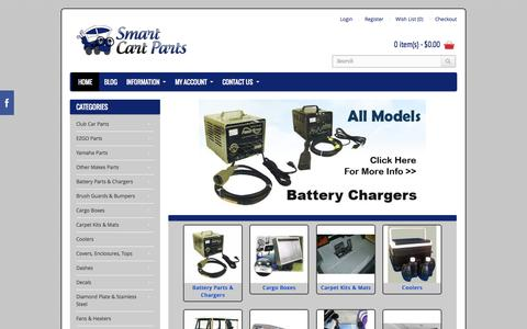 Screenshot of Home Page smartcartparts.com - Golf Cart Parts | Golf Cart Accessories | Smart Cart Parts - captured Oct. 7, 2014