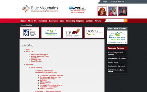Screenshot of Site Map Page biznet.org.au - Site Map - - captured Oct. 5, 2014