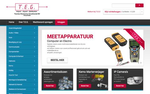 Screenshot of Home Page teg-bv.nl - Home page - captured Jan. 26, 2015