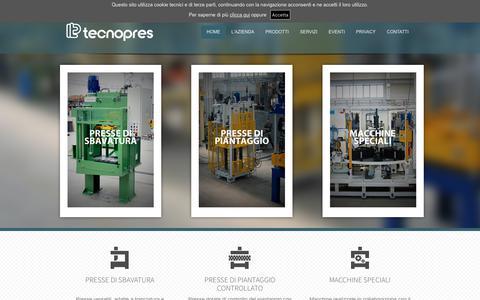 Screenshot of Home Page tecnopres.it - HOME   presse idrauliche, oleodinamiche e piegatrici   Tecnopres - captured July 11, 2017