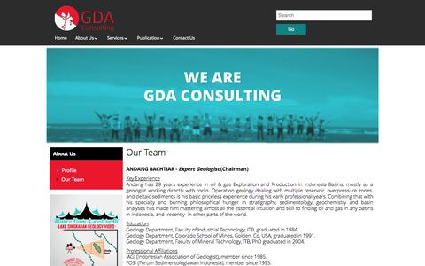 Screenshot of Team Page gda.co.id - Our Team / GDA Consulting - Sedimentology, petroleum geology, mining and regional consulting - captured Oct. 1, 2014
