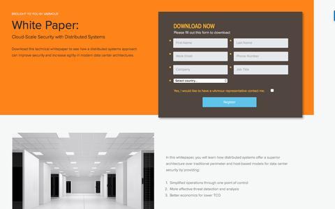 Screenshot of Landing Page varmour.com captured April 7, 2017