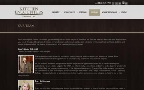 Screenshot of Team Page kitchenencounters.biz - Kitchen Encounters (MD) - Award Winning Kitchen and Bath Design and Home Remodeling Services, New Construction, Quality Cabinetry. - captured Oct. 6, 2014