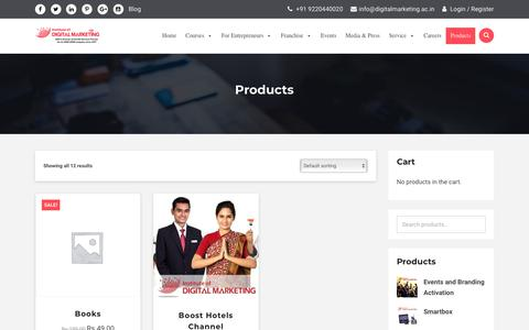 Screenshot of Products Page digitalmarketing.ac.in - Products - Institute Of Digital Marketing - captured March 8, 2019