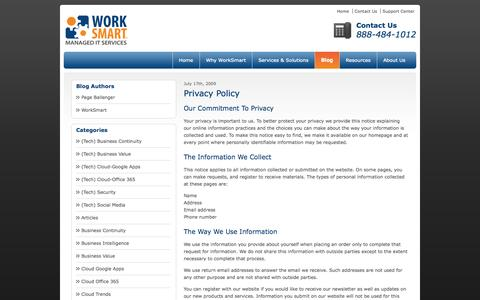 Privacy Policy - Raleigh, Durham, Charlotte, Greensboro, Winston-Salem, Philadelphia, Baltimore | WorkSmart