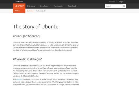Screenshot of About Page ubuntu.com - About the Ubuntu project | Ubuntu - captured Aug. 24, 2018