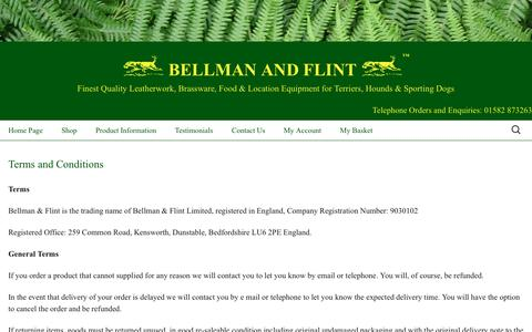 Screenshot of Terms Page bellmanandflint.co.uk - Terms and Conditions - Bellman and Flint - captured June 3, 2016