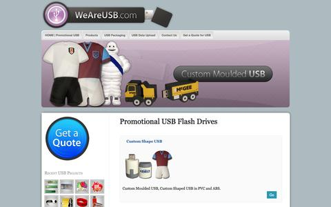 Screenshot of Products Page weareusb.com - Promotional USB | Custom Shape USB | Business Card USB - captured Oct. 26, 2014