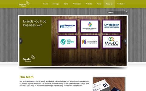 Screenshot of Team Page fraktul.com - Fraktul - Our team - Award winning Marketing for your organisation. Website design, Brand development, Graphic design, SEO - captured Oct. 29, 2014