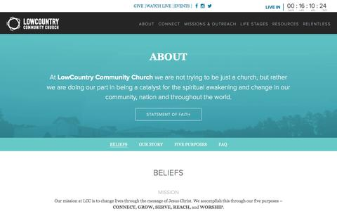 Screenshot of About Page lowcountrycc.org - About - Low Country - captured Nov. 12, 2016