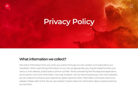 Screenshot of Privacy Page nvision.co - Privacy Policy | nvision - captured Feb. 24, 2018