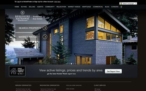 Screenshot of Home Page bhhsnw.com - Homes for Sale in Oregon, including Vancouver, the greater Portland area and Central Oregon - captured Jan. 21, 2016