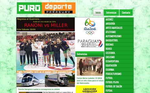 Screenshot of Home Page purodeporte.com.py - Puro Deporte - captured April 30, 2016