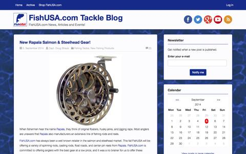 Screenshot of Blog fishusa.com - FishUSA.com Tackle Blog | FishUSA.com News, Articles and Events! - captured Sept. 22, 2014