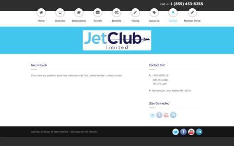 Screenshot of Contact Page jetclublimited.com - Jet Club Limited » Contact - captured Aug. 8, 2016