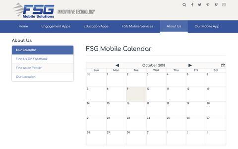 Screenshot of About Page fsgmobile.com - FSG Mobile Calendar - FSG Mobile Solutions - Dayton, OH - captured Oct. 10, 2018