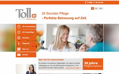 Screenshot of Home Page toll-betreuung.de - Toll 24 Betreuung| Toll 24-Stunden-Betreuung - captured June 10, 2016