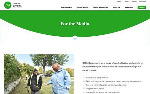 Screenshot of Press Page ceoworks.org - CEO | Media - captured Dec. 14, 2018