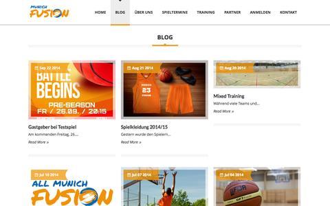 Screenshot of Blog munichfusion.de - Blog - Basketball Club Munich Fusion e.V. - Basketball München - captured Oct. 5, 2014