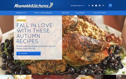 Screenshot of Home Page reynoldskitchens.com - Reynolds Kitchens | Kitchen Products, Recipes, Tips & More. - captured Dec. 5, 2016
