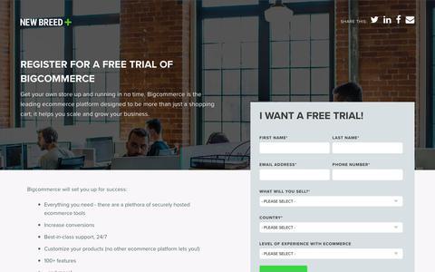 Bigcommerce Free Trial | New Breed