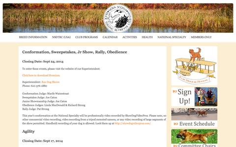 Screenshot of Signup Page nsdtrc-usa.org - Sign Up - captured Oct. 26, 2014