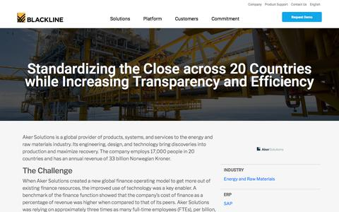 Screenshot of Case Studies Page blackline.com - Aker Solutions | BlackLine Customer - captured Nov. 29, 2019