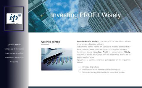 Screenshot of Home Page ipw.es - Quiénes somos - captured Oct. 12, 2018