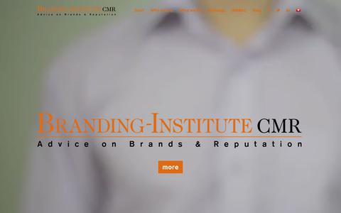Screenshot of Home Page branding-institute.com - Branding-Institute CMR AG – the brand & reputation think tank - captured Aug. 3, 2018