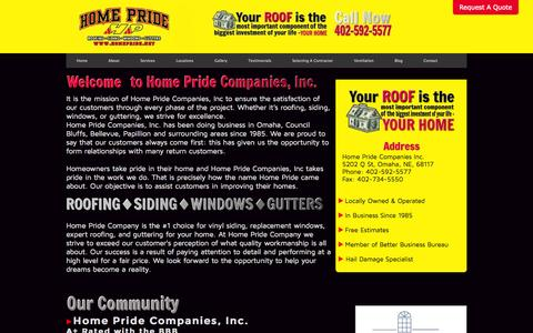 Screenshot of About Page homepride.net - About Home Pride Companies, Inc. - captured Oct. 3, 2014