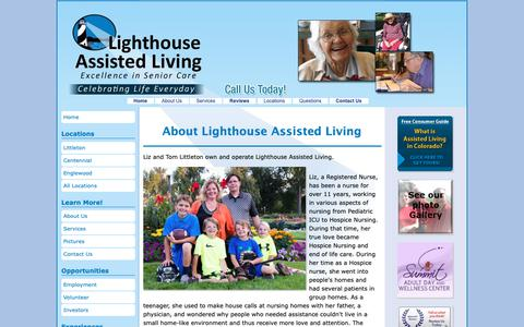 Screenshot of About Page lighthouseassistedliving.com - About Assisted Living Centennial Homes - captured Dec. 15, 2018
