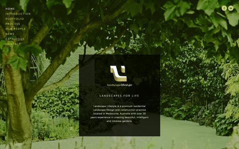 Screenshot of Home Page landscapelifestyle.com.au - Landscape Lifestyle - captured Sept. 27, 2014