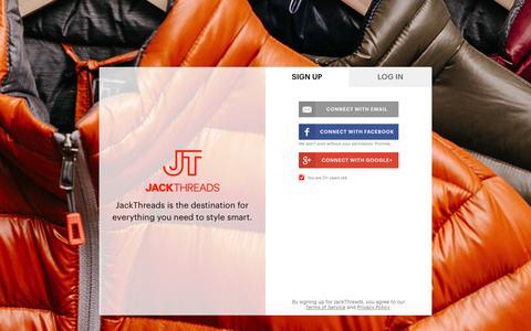 Screenshot of Signup Page jackthreads.com - Join JackThreads - captured Oct. 20, 2015