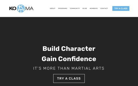 Screenshot of Home Page thekoma.com - KOMA - captured Nov. 15, 2018