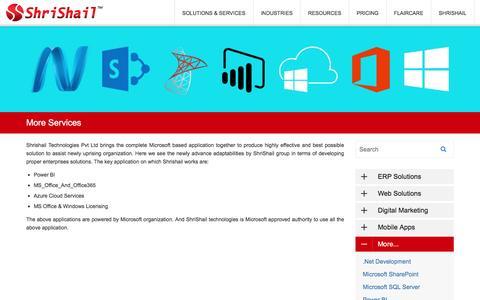 Screenshot of Services Page shrishail.com - Index - captured Dec. 3, 2016