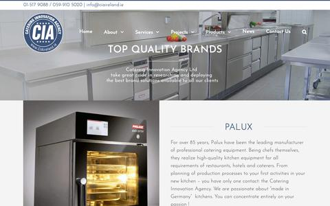 Screenshot of Products Page ciaireland.ie - OUR BRANDS - Catering Innovation Agency - captured Nov. 10, 2018