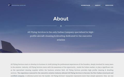 Screenshot of About Page allflyingservices.com - About   All Flying Services - captured Dec. 24, 2015