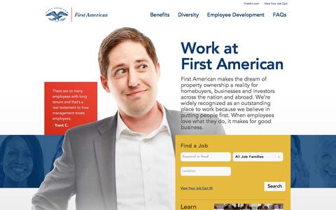 Screenshot of Jobs Page firstam.com - First American Careers - captured Oct. 13, 2017