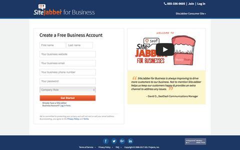 Register - SiteJabber for Business